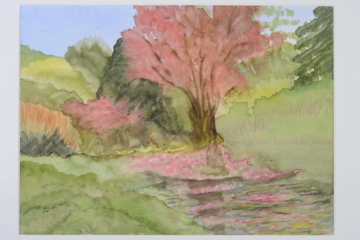 Tickled Pink_watercolor_8.5x10_$300.JPG
