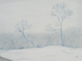 'Scandinavian Snow'_watercolor_9x11.5_$350