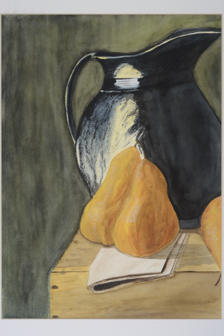Still Life With Pear_watercolor_12x9_$350_.JPG