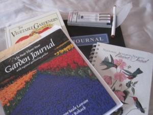 Garden journals and notebooks
