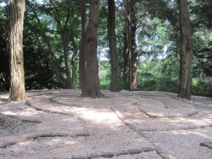 Labyrinth in the woods